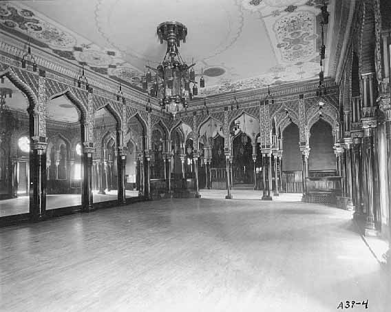 Inside the gymnasium in 1919