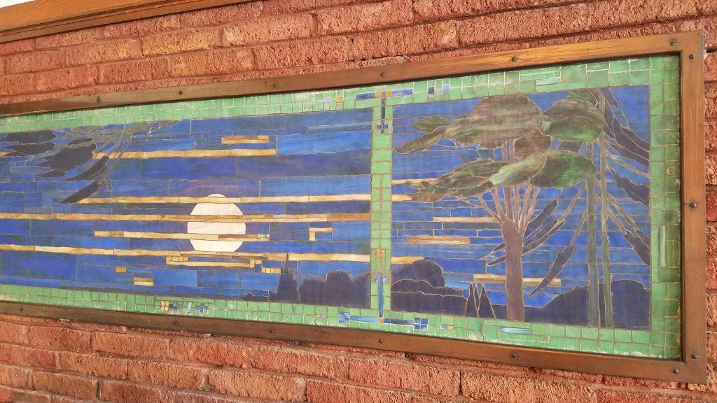 300 Hill Street Fireplace mosaic glass tile
